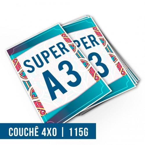 Impressão Digital Couchê SA3 | 4x0 | 115g