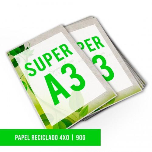 Impressão Digital SA3 Reciclato | 4x0 | 90g