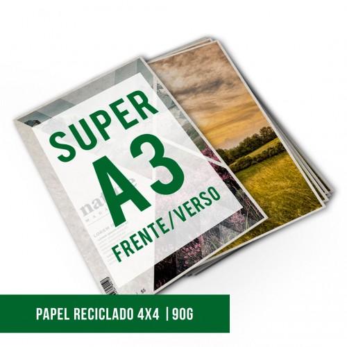 Impressão Digital SA3 Reciclato | 4x4 | 90g