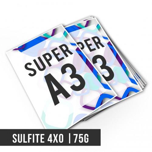 Impressão Digital SA3 Sulfite 75g | 4x0