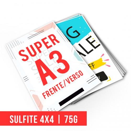 Impressão Digital SA3 Sulfite 75g | 4x4