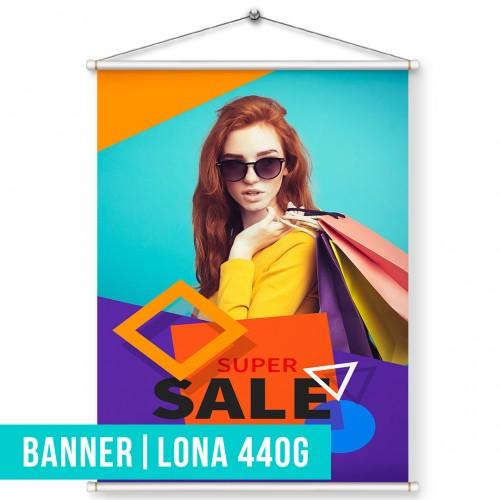 Banner | Lona 440g | Madeira | Cordão  (por m2)