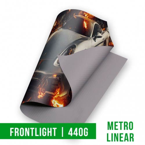 Lona Frontlight Brilho | 440g | 4x0 (m linear)